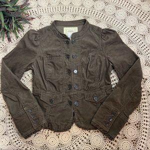 Cidra Anthropologie Womens Peplum Blazer Jacket